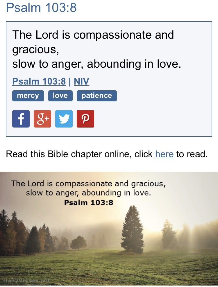 Day 5- Prayer Countdown- Psalm 103:8 The Lord is